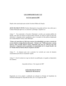 PROJETO DE LEI Nº - Aracoiaba.sp.gov.br