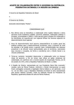 ajuste de colaboração entre o governo da república federativa do