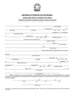 república federativa do brasil - Consulado Geral do Brasil em Lisboa