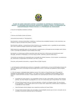 plano de ação conjunto entre o governo da república federativa do