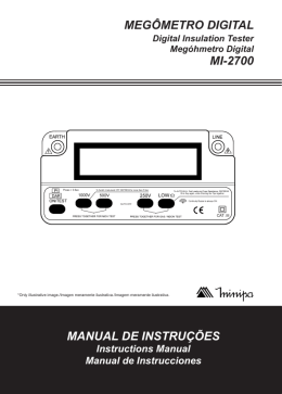 MANUAL DE INSTRUÇÕES MEGÔMETRO DIGITAL MI-2700