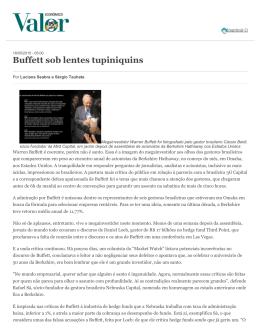 Valor Economico: Buffett sob lentes tupiniquins