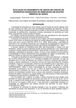AVALIAÇÃO DO RENDIMENTO DE GRÃOS EM FUNÇÃO DE