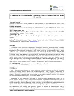 Avaliação de Contaminação por Escherichia coli em