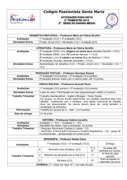 modelo - cabeçalho de provas - Colégio Passionista Santa Maria