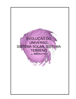EVOLUÇÃO DO UNIVERSO, SISTEMA SOLAR, SISTEMA