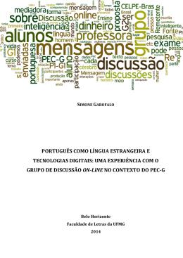 português como língua estrangeira e tecnologias digitais