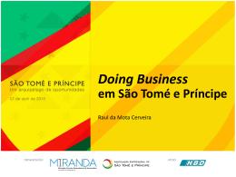 Doing Business em São Tomé e Príncipe