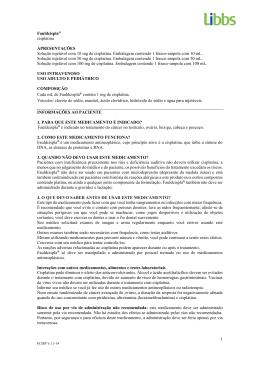 1 Fauldcispla® cisplatina APRESENTAÇÕES Solução