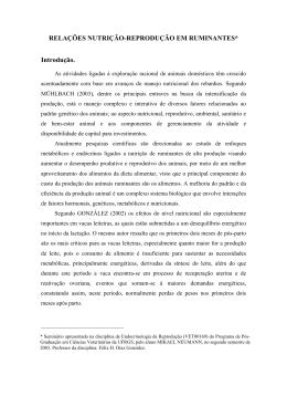 Relações nutrição-reprodução em ruminantes