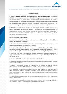 """""""Conexão Academia"""" A Revista """"Conexão Academia"""""""
