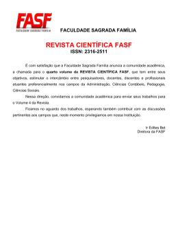 REVISTA CIENTÍFICA FASF