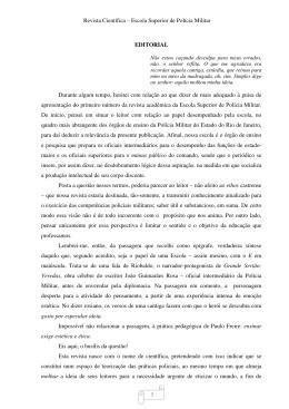 Revista Científica – Escola Superior de Polícia Militar 5 EDITORIAL