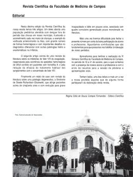Editorial Revista Científica da Faculdade de Medicina de