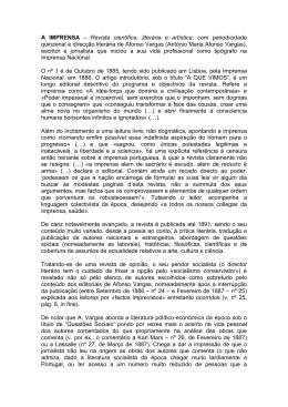 A IMPRENSA – Revista científica, literária e artística, com