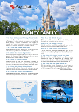 DISNEY FAMILY - MAGNIFICAT TURISMO - Caxias do Sul