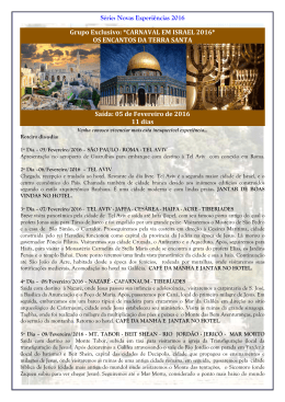 saída 05-fevereiro 2016 - Primordial Operadora e Turismo