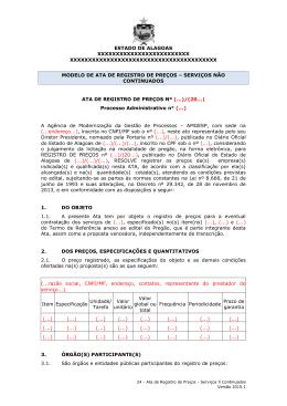 Ata de Registro de Preços - Procuradoria Geral do Estado