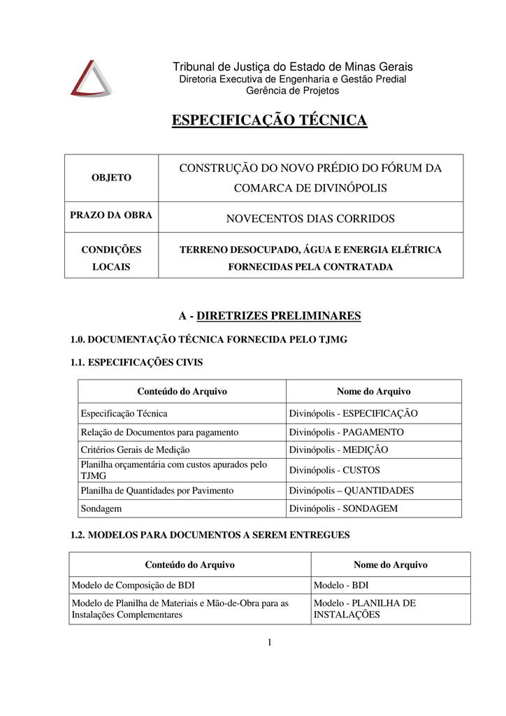 especificação técnica - licit - Tribunal de Justiça de Minas Gerais f03ec0c617