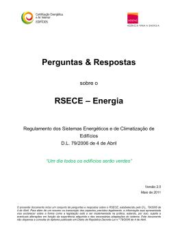 Perguntas e Respostas RSECE Energia - ADENE