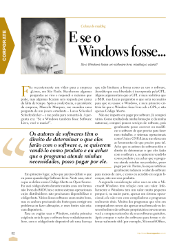 E se o Windows fosse