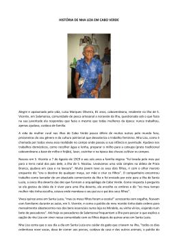 Beneficiária da Pensão Social de Cabo Verde