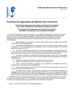 Processo de negociação do diploma dos concursos