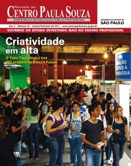 Janeiro/Fevereiro Edição nº 20 - Centro Paula Souza