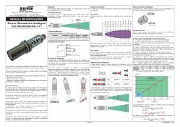 Sensores Ultrassônicos US1300 AN Manual Instalação Rev A