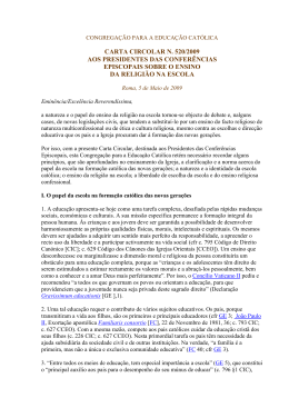 Carta sobre o ER - Vaticano