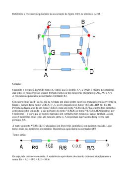 cubo e resistores