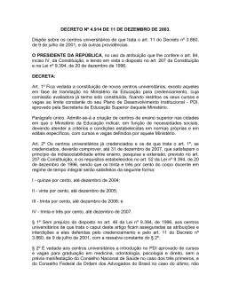 DECRETO Nº 4.914 DE 11 DE DEZEMBRO DE 2003