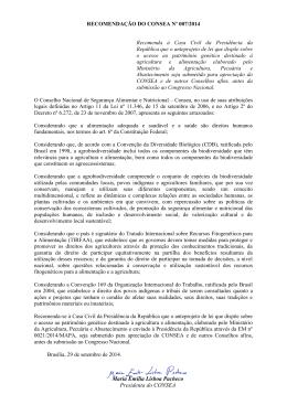 Recomendação Nº 007/2014 - Presidência da República