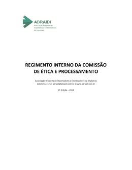regimento interno da comissão de ética e processamento