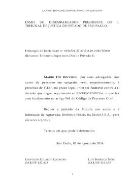 Falha x Folha agravo REsp Borrelli