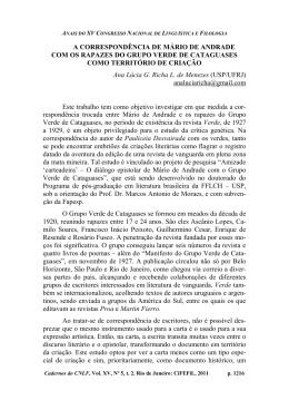 A correspondência de Mário de Andrade com os rapazes do grupo