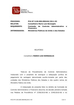 votou - Conselho Nacional do Ministério Público