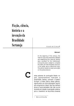 Ficção, ciência, história e a invenção da brasilidade sertaneja