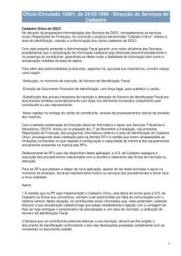 Ofício-Circulado 10001, de 24/03/1999