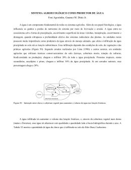 SISTEMA AGROECOLÓGICO COMO PRODUTOR DE ÁGUA Feni
