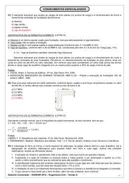 GABARITO COMENTADO - ENGENHARIA CIVIL