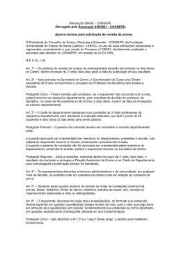 Resolução 084/92-CONSEPE - Secretaria dos Conselhos Superiores