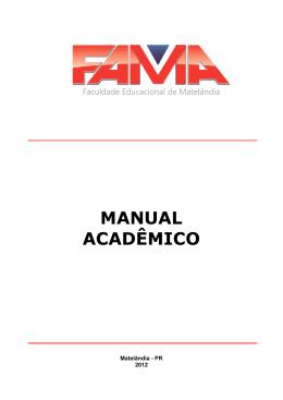 Manual Acadêmico atualizado