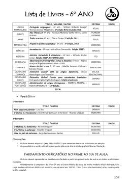 Lista 6º ano - Colégio Alfredo Dantas
