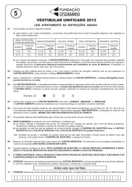 PROVA 5 - VESTIBULAR UNIFICADO.indd