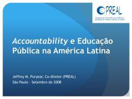 Accountability e educação pública na América Latina
