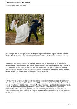 O casamento que mata aos poucos