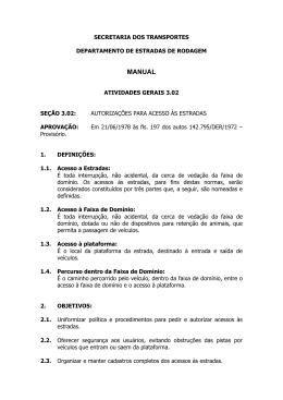 Manual DER Seção 3.02