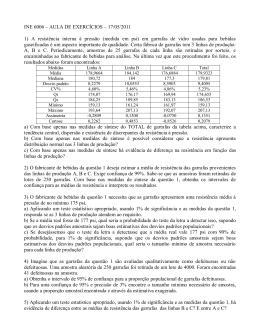 INE 6006 – AULA DE EXERCÍCIOS – 17/05/2011 1) A resistência