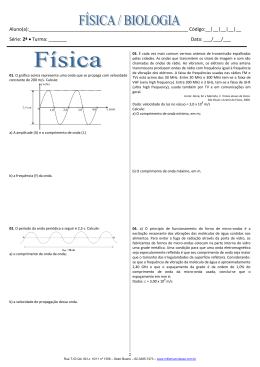 Tarefão - 2ª série - Física e Biologia